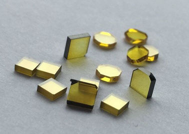 Yellow Color HPHT Single Crystalline Diamond High Purity Synthetic Diamond Type
